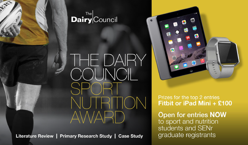 THE DAIRY COUNCIL LAUNCHES ANNUAL SPORT NUTRITION AWARD