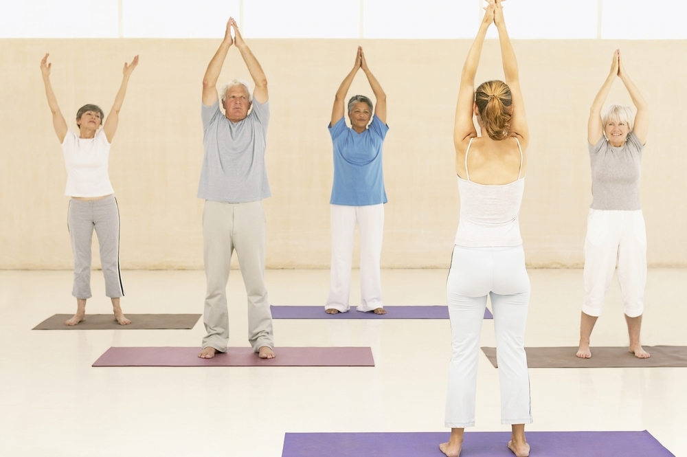 Older people exercising healthy ageing