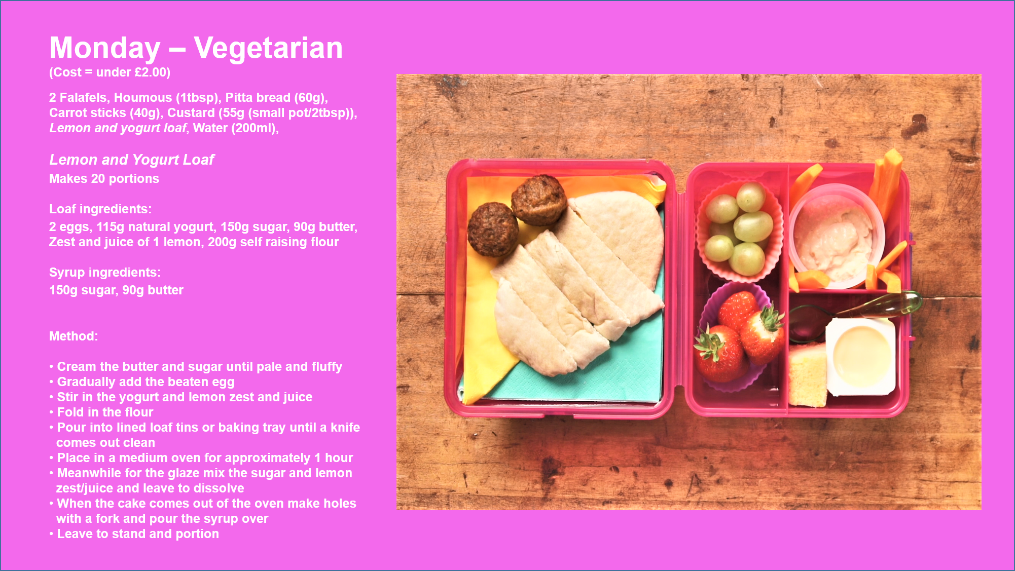 school lunchbox vegetarian