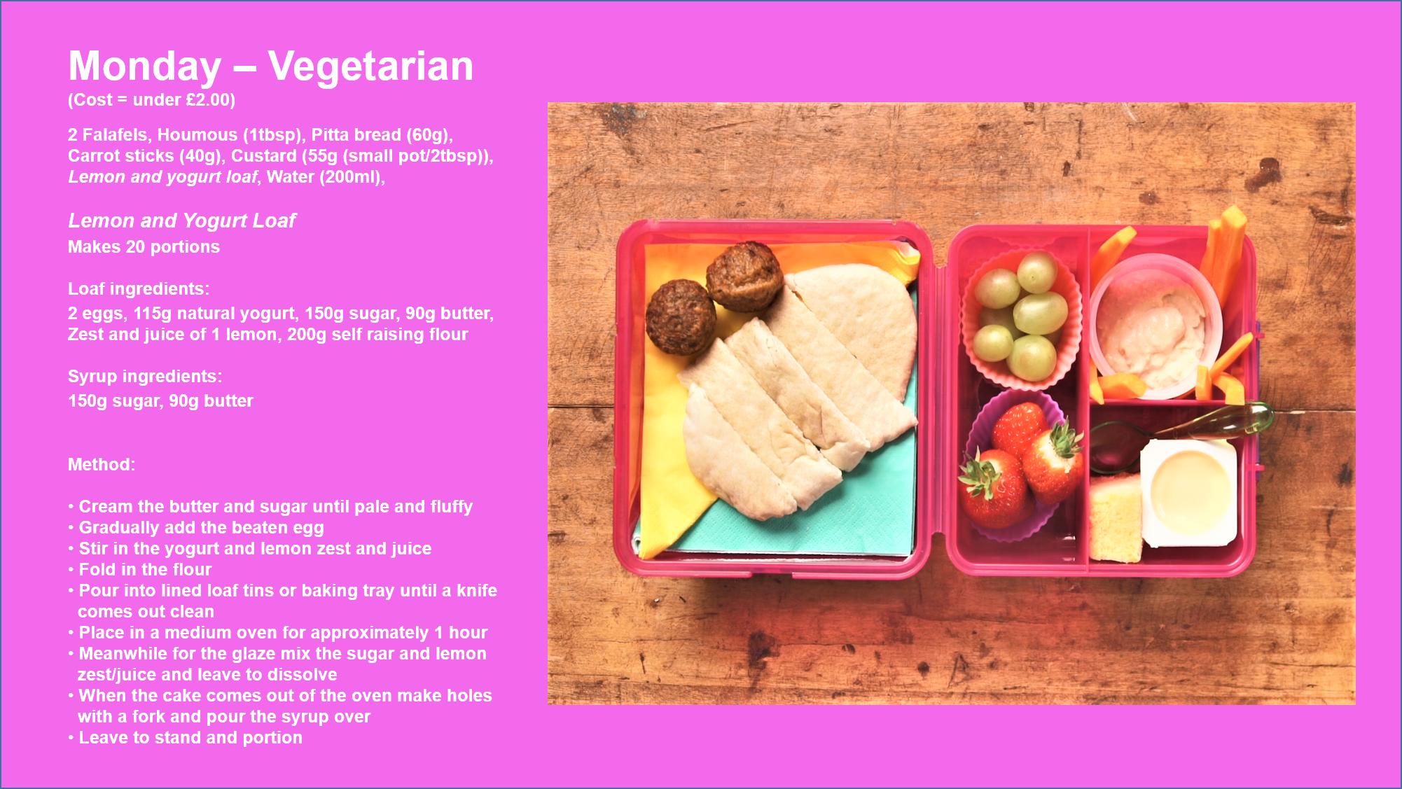school lunchbox vegetarian