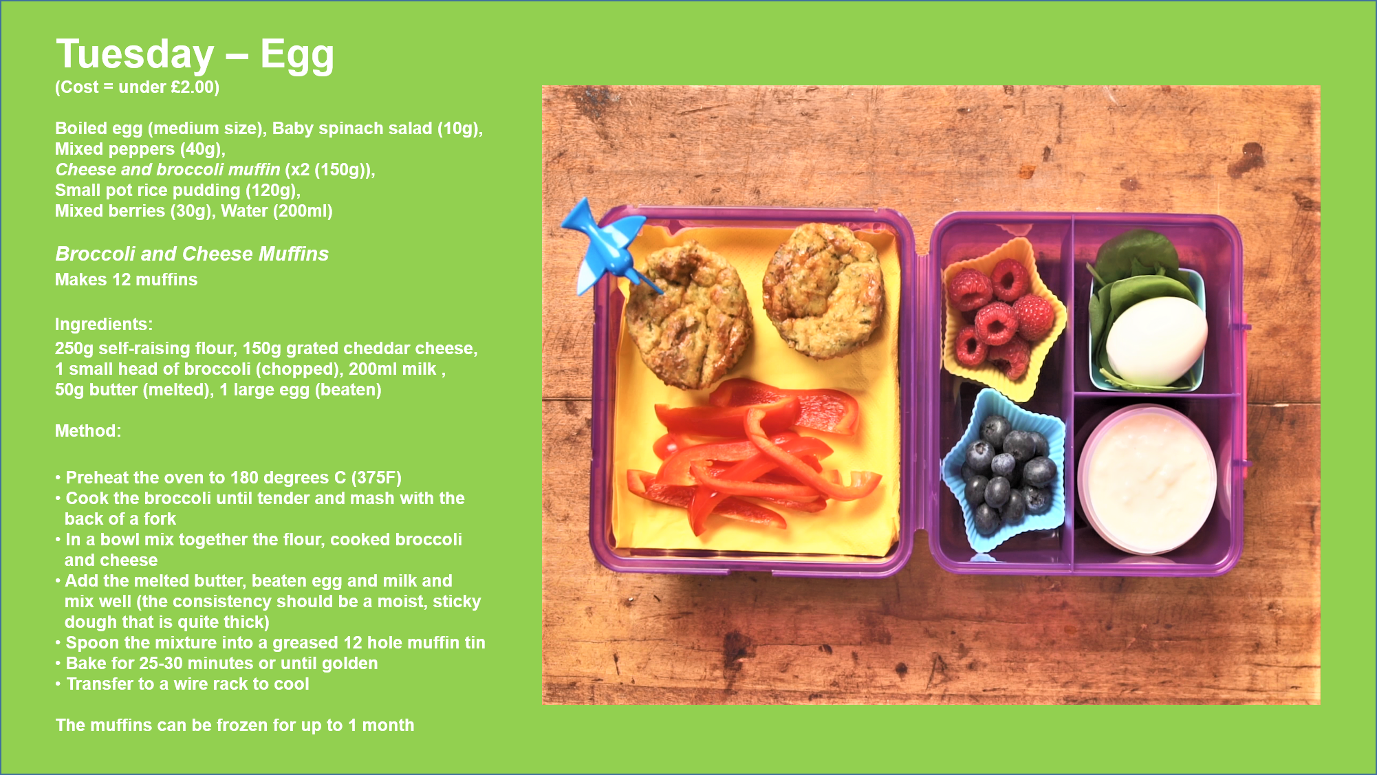School lunchbox with egg