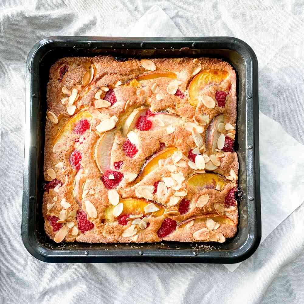 to accompany peach melba cake recipe